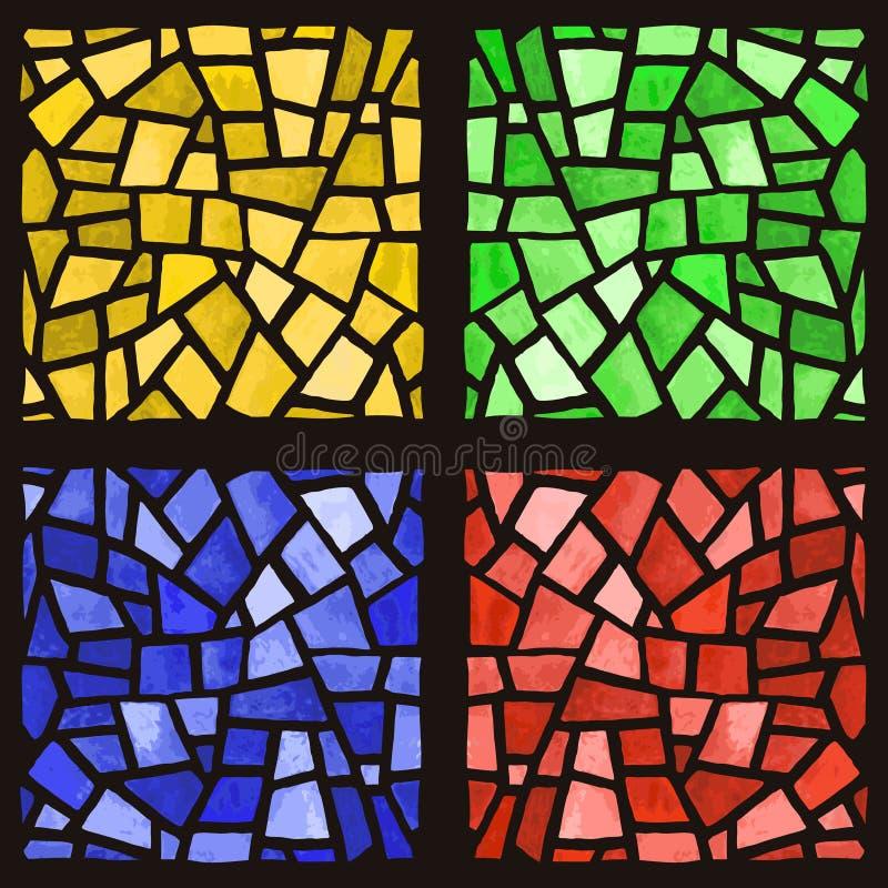 окно запятнанное стеклом иллюстрация вектора