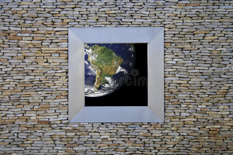 окно земли америки южное стоковое фото
