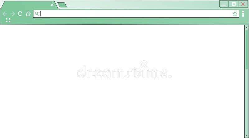 Окно интернет-браузера шаблона пустое пустой экран компьютера бесплатная иллюстрация