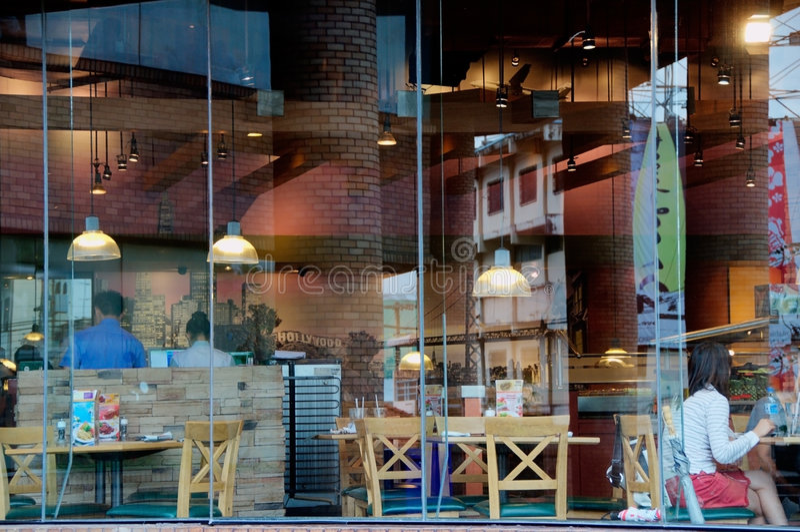 окно кафа стоковое изображение