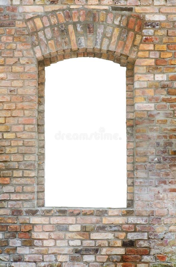 окно кирпичной стены стоковое фото rf