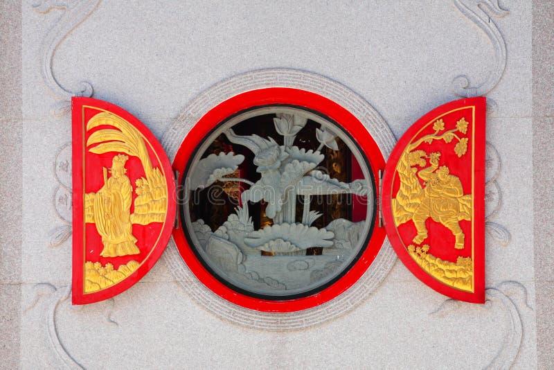 Окно красного цвета традиционного китайския стоковое изображение