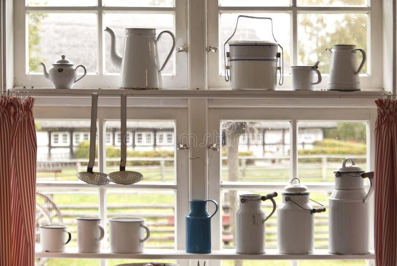 Окно кухни стоковые изображения