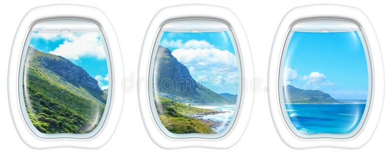 Окно на полуострове накидки стоковые фотографии rf