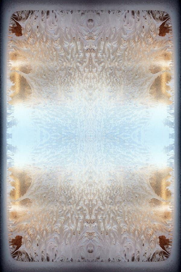 окно орнамента заморозка стоковая фотография