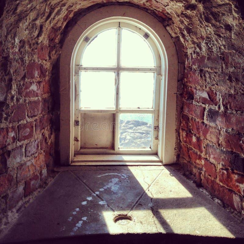 Окно острова Балтийского моря стоковая фотография rf