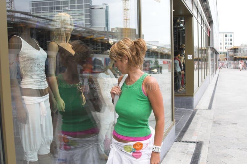 окно покупкы стоковое изображение rf