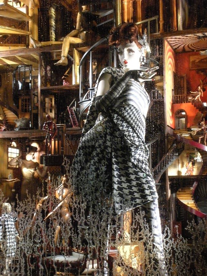 Окно праздника главы семьи Bergdorf, Нью-Йорк, NY, США стоковые изображения rf