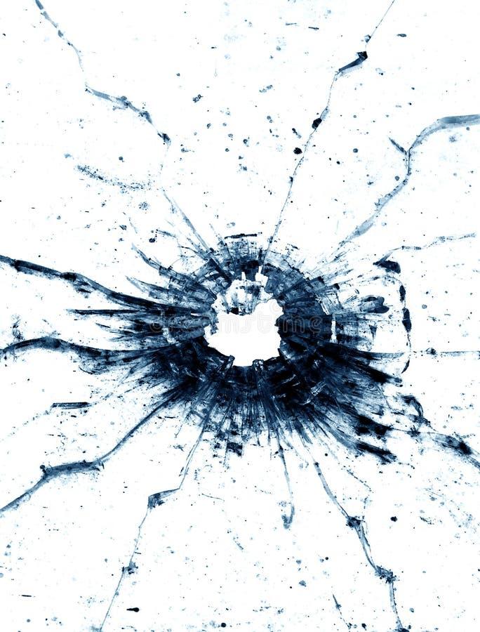 окно пулевого отверстия стоковое изображение