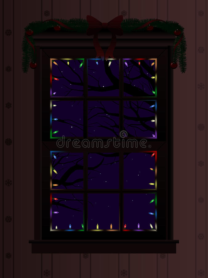 окно рождества иллюстрация вектора