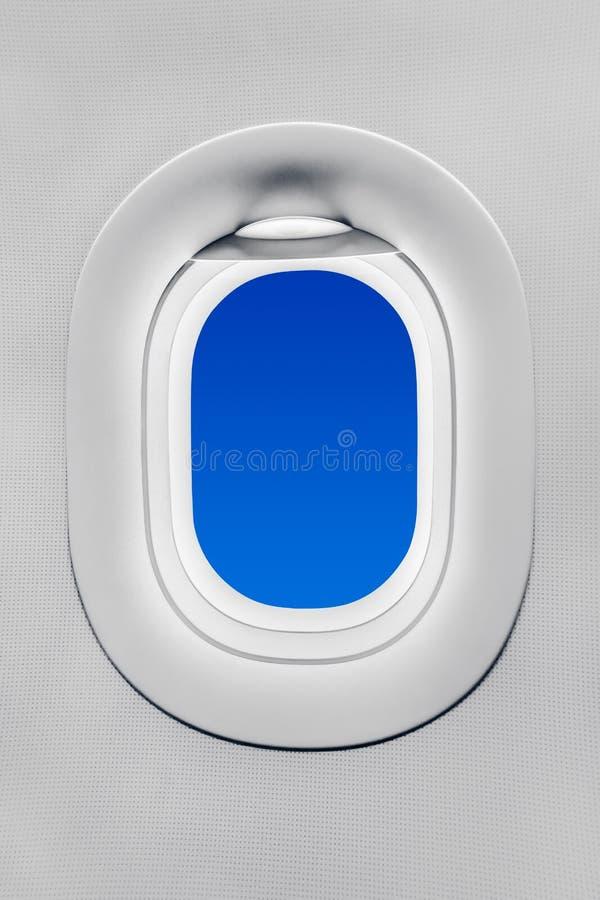 Окно самолета стоковое изображение rf