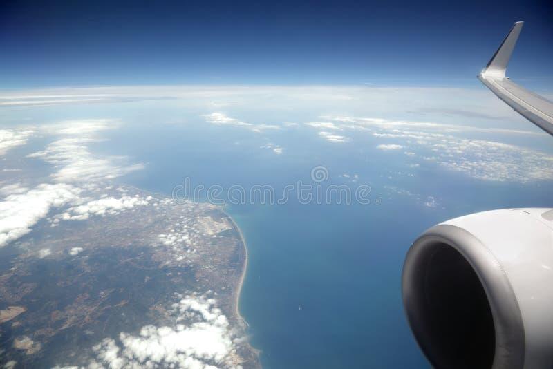 окно самолета стоковое изображение