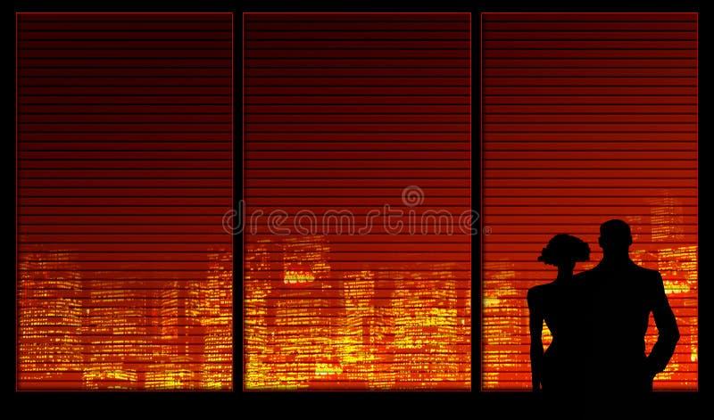 окно серии пар предпосылки иллюстрация штока