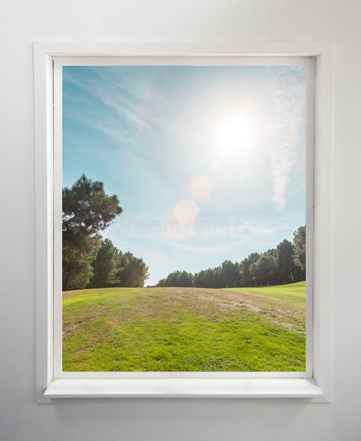 Окно с взглядом стоковое фото rf