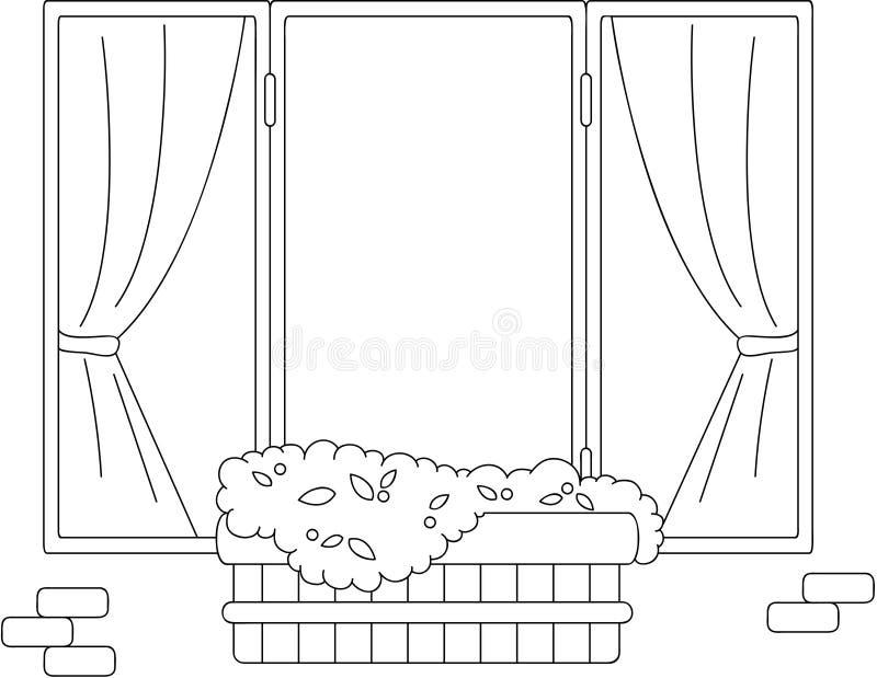 городское окно картинки раскраски нужно