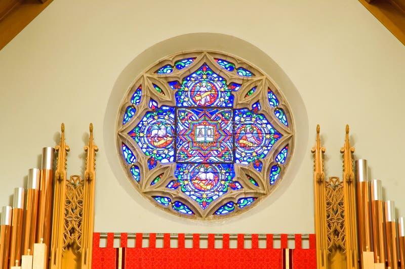окно трубы органа церков стоковое изображение rf