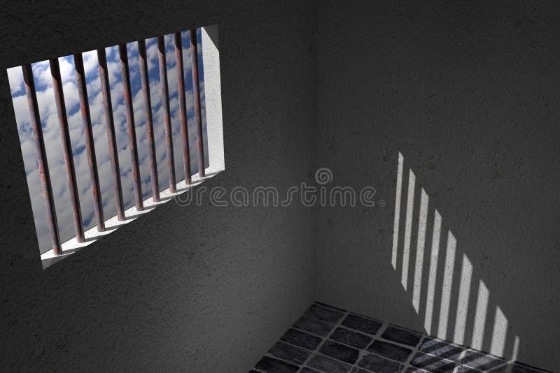 Окно тюрьмы бесплатная иллюстрация