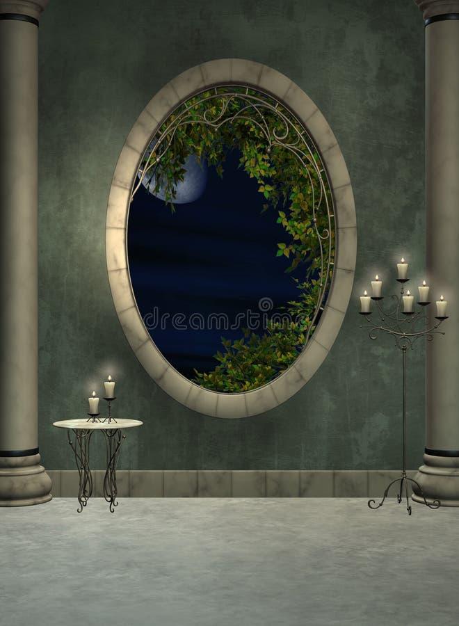 окно фойе иллюстрация штока