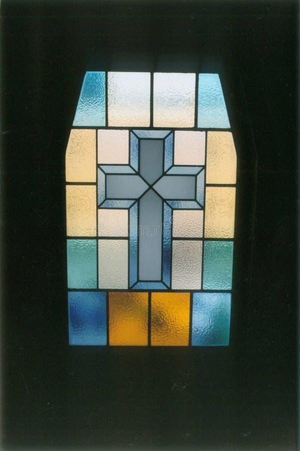 окно церков запятнанное стеклом Стоковая Фотография RF
