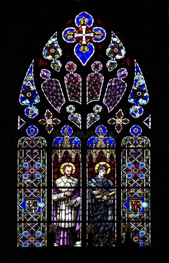 окно черной церков запятнанное стеклом стоковое фото rf
