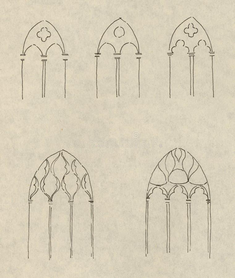 окно чертежей готское бесплатная иллюстрация