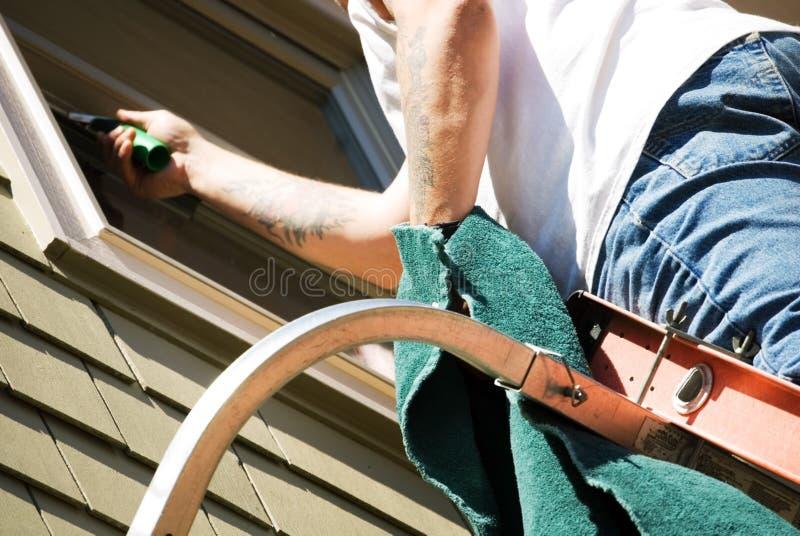 окно шайбы уборщика близкое поднимающее вверх Стоковое фото RF