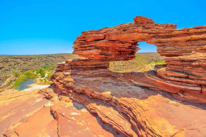 Окно Kalbarri природы стоковые изображения