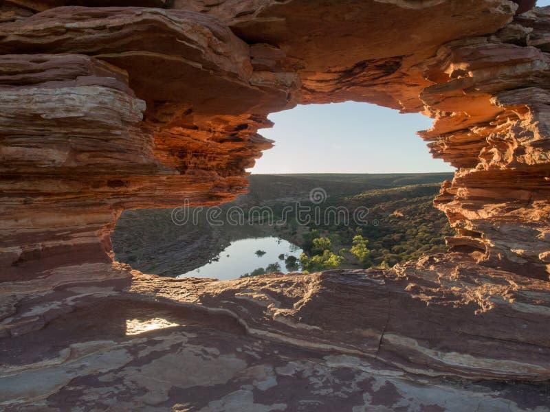 Окно ` s природы, национальный парк Kalbarri, западная Австралия стоковые фото