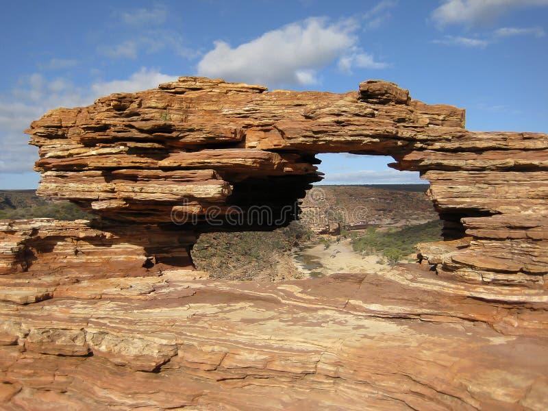 Окно ` s природы - национальный парк Kalbarri - Австралия стоковые фото