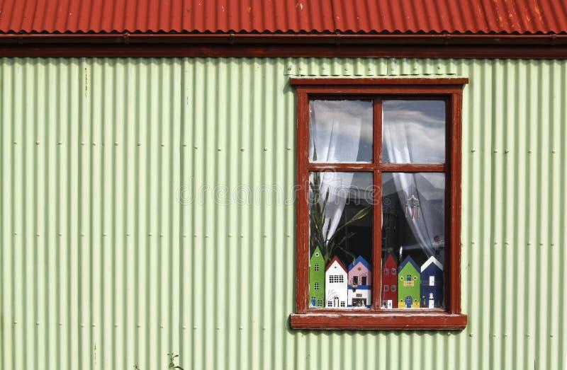 окно stykkisholmur стоковая фотография rf