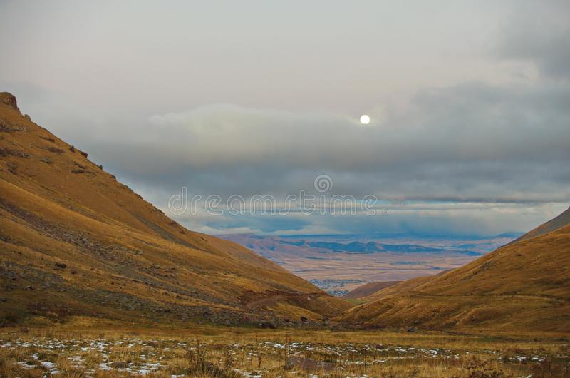 Около горы Aragats Армении Осень в Армении стоковая фотография rf