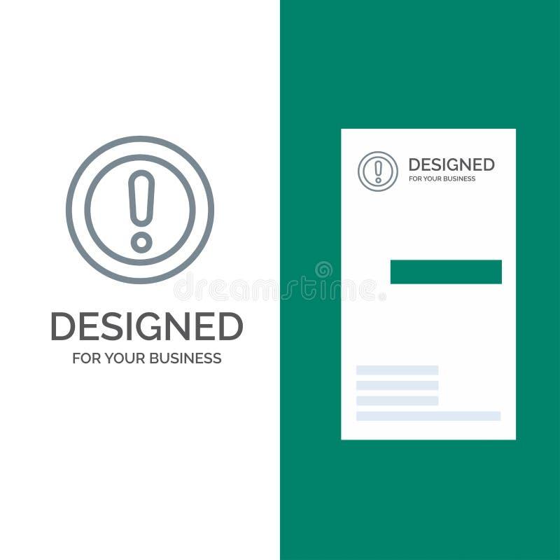 Около, информация, примечание, вопрос, дизайн логотипа поддержки серые и шаблон визитной карточки иллюстрация вектора