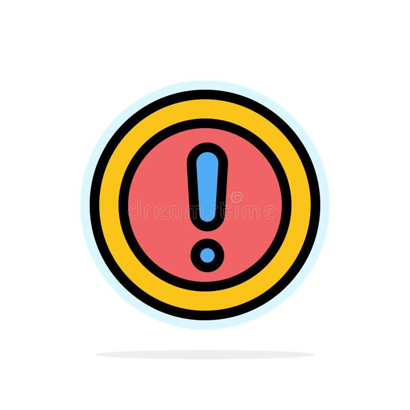 Около, информация, примечание, вопрос, предпосылки круга поддержки значок цвета абстрактной плоский бесплатная иллюстрация