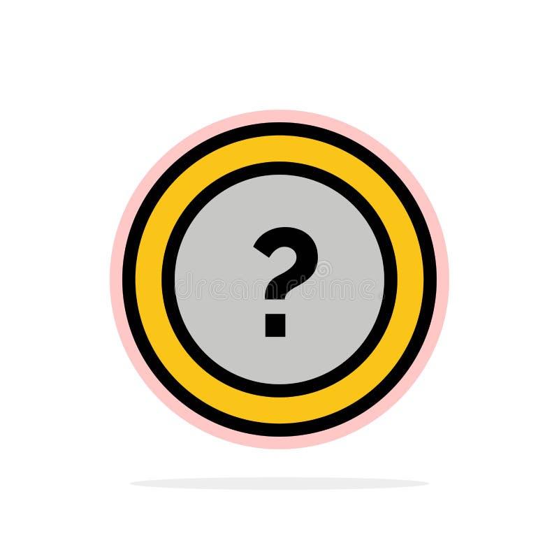 Около, спросите, информация, вопрос, предпосылки круга поддержки значок цвета абстрактной плоский бесплатная иллюстрация