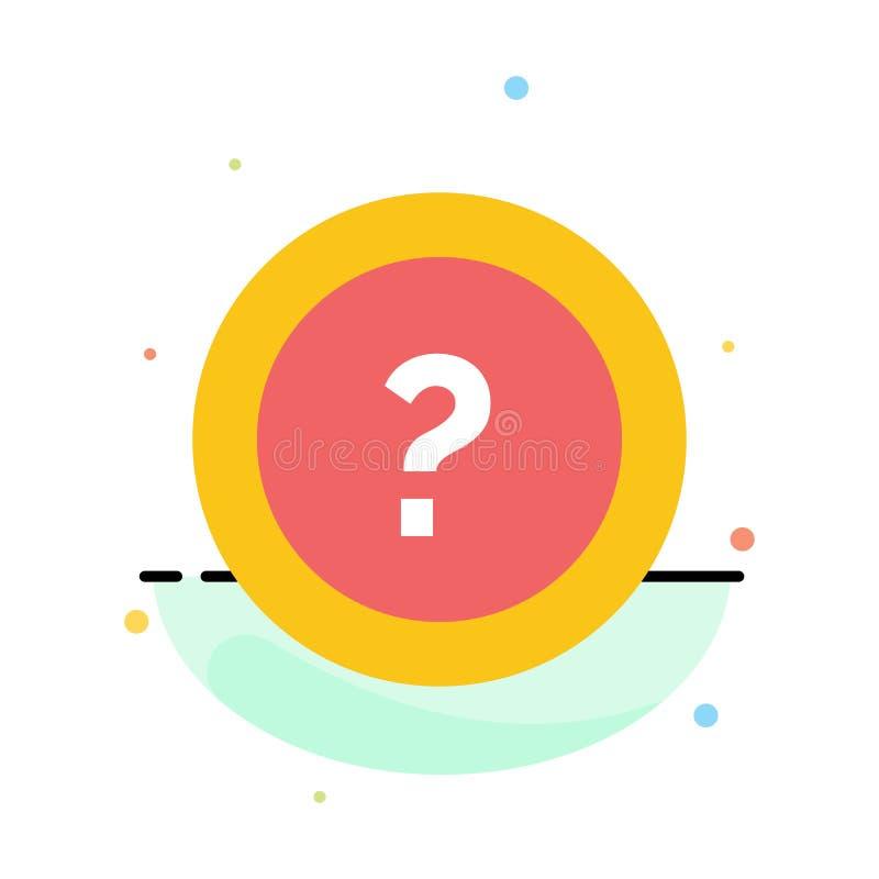 Около, спросите, информация, вопрос, шаблон значка цвета конспекта поддержки плоский иллюстрация вектора