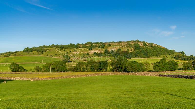 Около Austwick, северный Йоркшир, Англия, Великобритания стоковая фотография rf