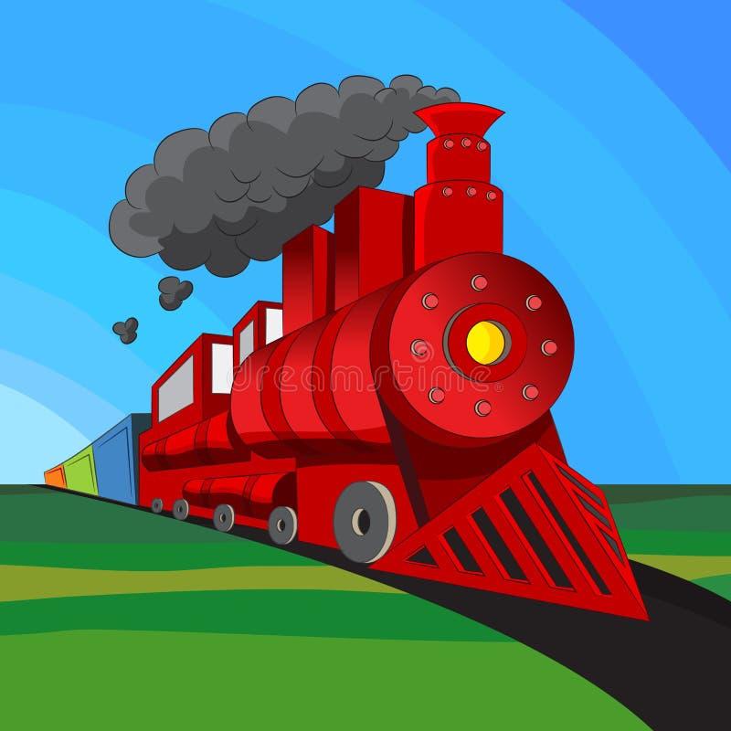 локомотивный поезд иллюстрация штока