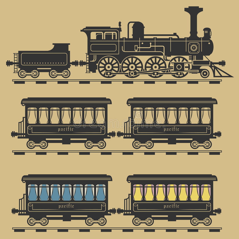 локомотивный поезд бесплатная иллюстрация