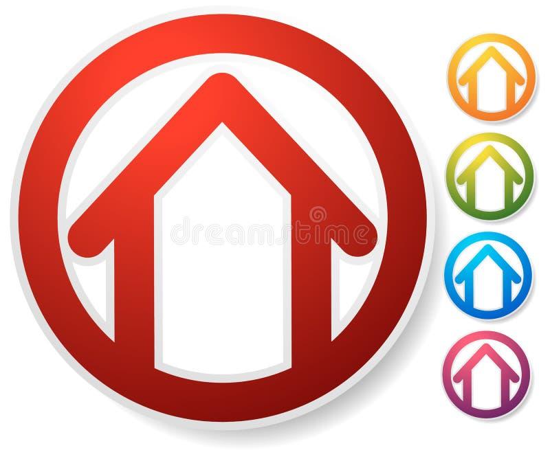 Download Оконтурите дом/символ, значок или логотип здания Иллюстрация вектора - иллюстрации насчитывающей habitation, строя: 81801648