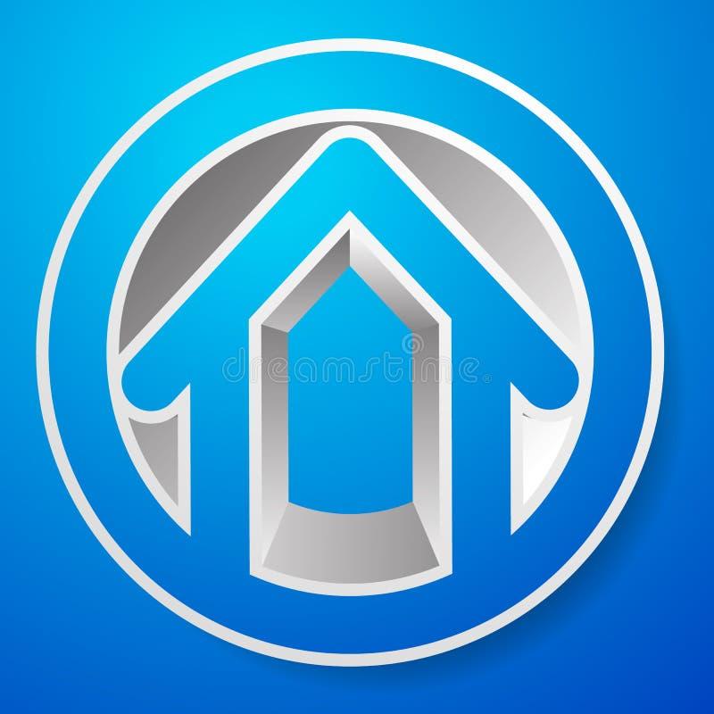 Download Оконтурите дом/символ, значок или логотип здания Иллюстрация вектора - иллюстрации насчитывающей контур, улучшение: 81801653