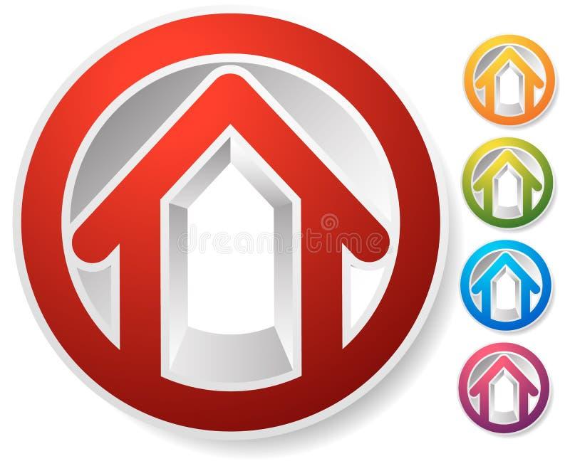 Download Оконтурите дом/символ, значок или логотип здания Иллюстрация вектора - иллюстрации насчитывающей улучшение, экстерьер: 81801663