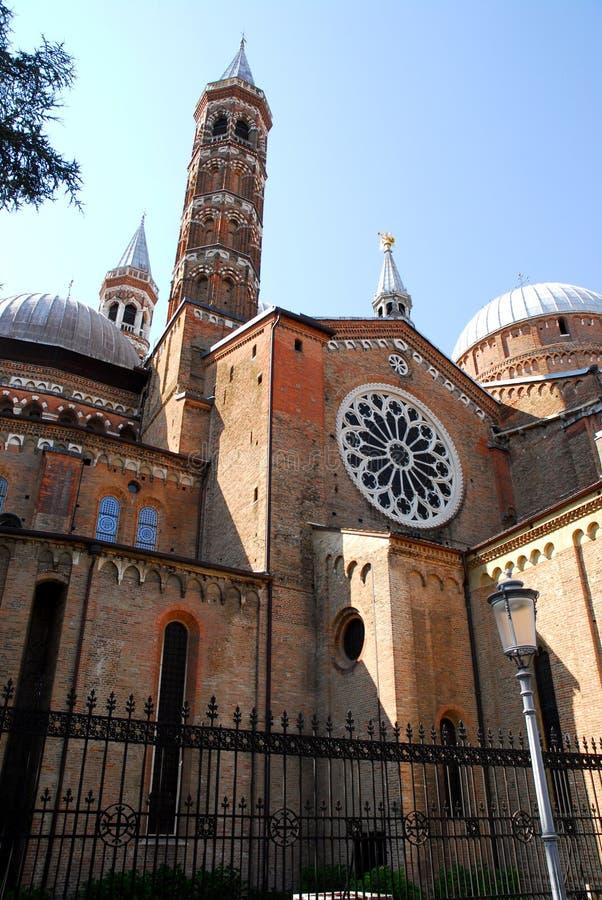 Около базилики святого спасения от через Cesatotti в Падуе в венето (Италия) стоковое изображение
