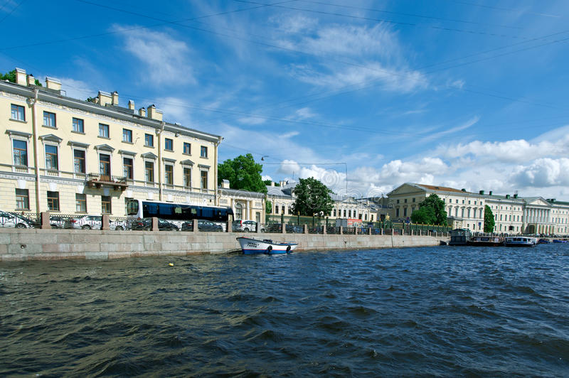 Около реки Санкт-Петербурга Fontanka стоковая фотография rf