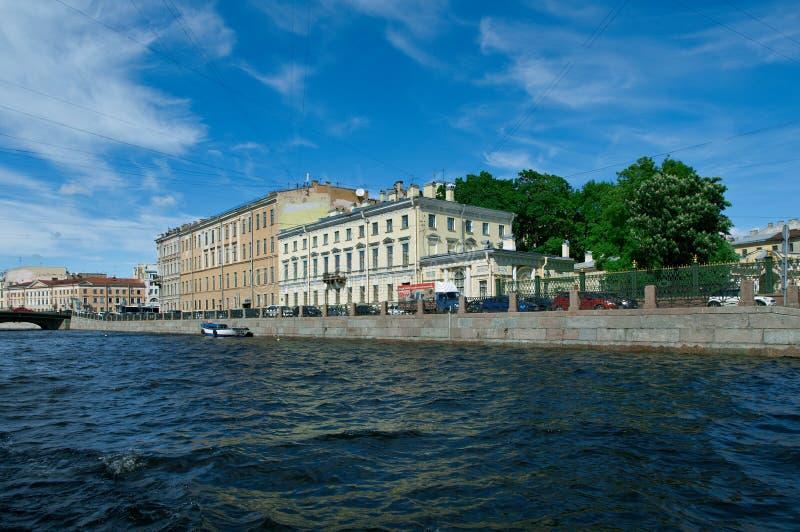 Около реки Санкт-Петербурга Fontanka стоковые изображения