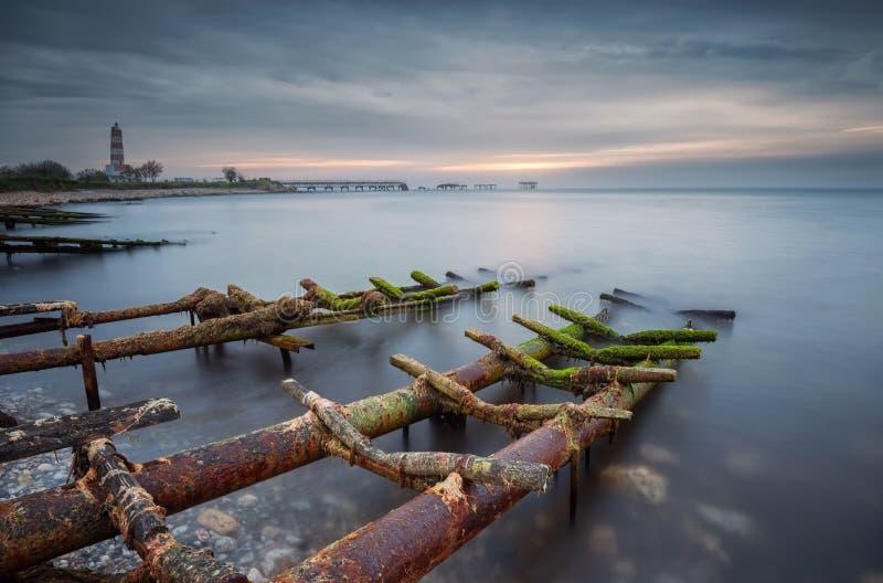 Около рыбацкого поселка стоковые фотографии rf