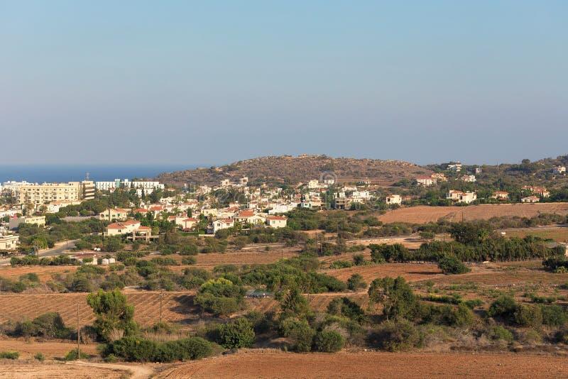 Окрестности Protaras, Кипра свободный полет среднеземноморской стоковое изображение rf