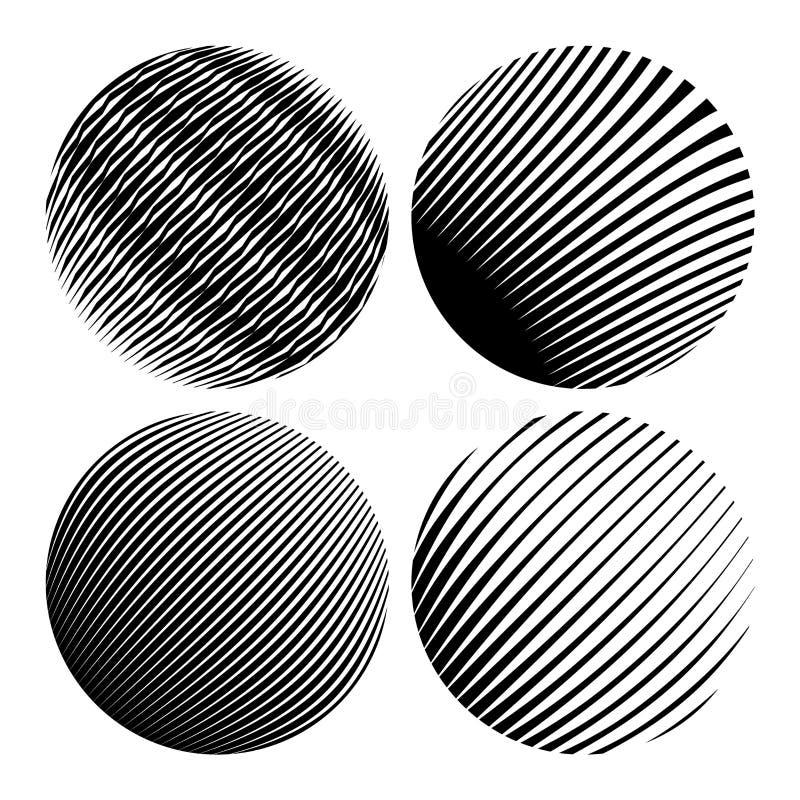 Округлые формы Геометрические абстракции для предпосылок и логотипов иллюстрация штока