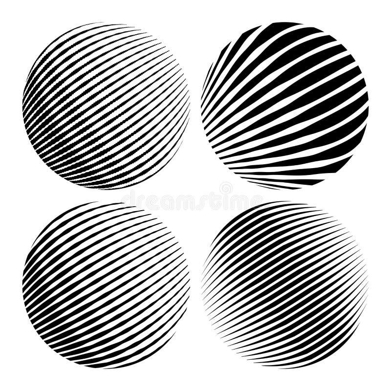 Округлые формы Геометрические абстракции для предпосылок и логотипов иллюстрация вектора