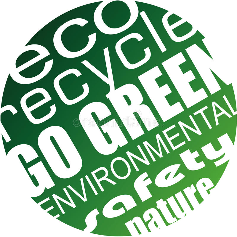Окружающая среда и предпосылка Eco для зеленых рогек иллюстрация вектора