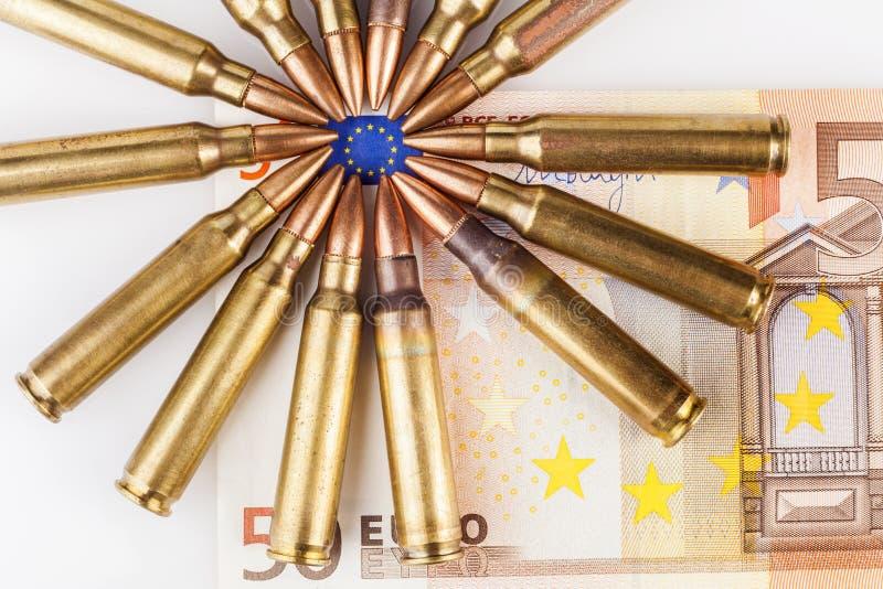 Окруженный флаг евро стоковые фотографии rf
